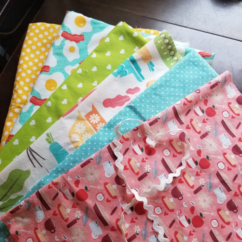 a mix of Spoonflower and Etsy fabric yardage